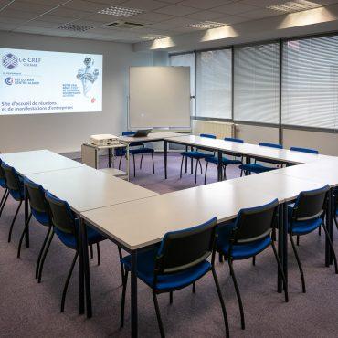 Salle de commission 48 m² / Le CREF Colmar © Pascal Schwien panoramaweb.fr